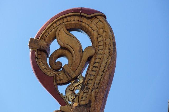 detail of rear carving - Draken Harald Harfagre