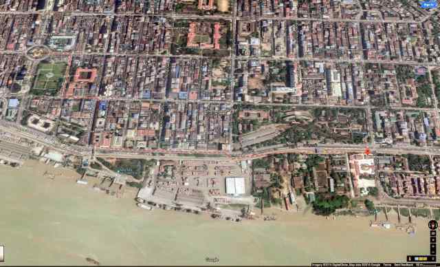 Google satellite image of downtown Yangon