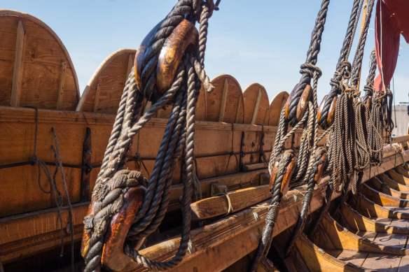 inside the Viking longship