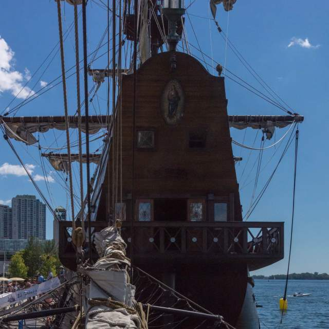 poop deck - rear of Spanish galleon