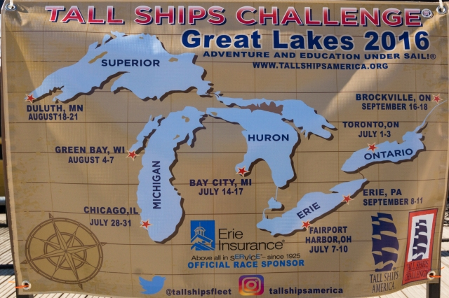 Tall Ships Map With 2016 Stops