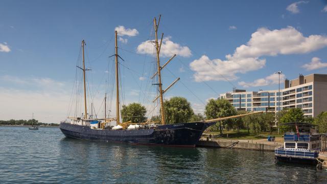 The Caledonia - docked at Toronto lakefront