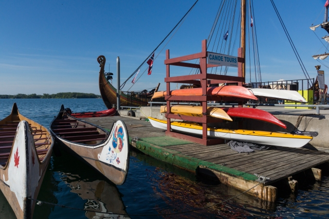 the Canadian canoe and the stern of the Viking longship
