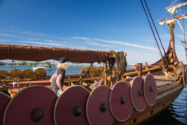 the front of the Viking longboat