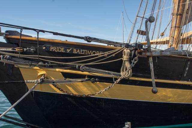 The Pride of Baltimore II - prow