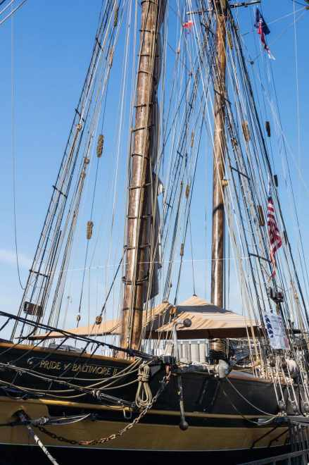 The Pride of Baltimore II schooner