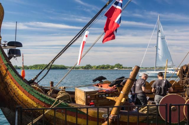 the stern of the Draken Harald Harfagre
