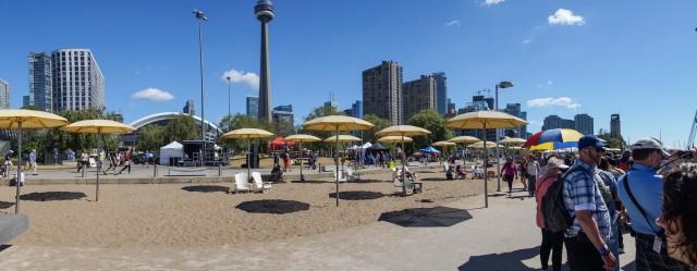 Toronto Harbourfront late Sunday morning - no longer quiet