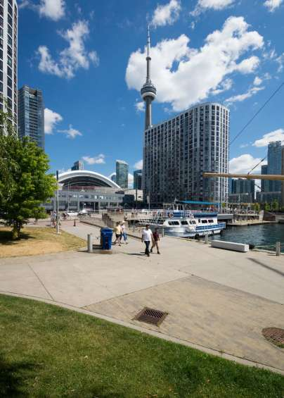 Toronto Harbourfront view with the CN Tower