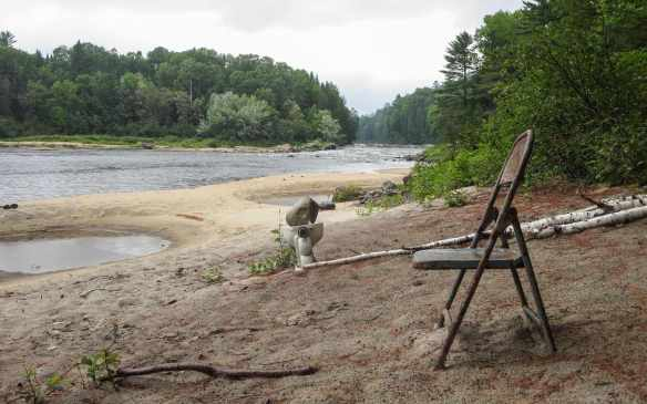 beach - complete with toilet facilities - on river left below Die Hard Rapids