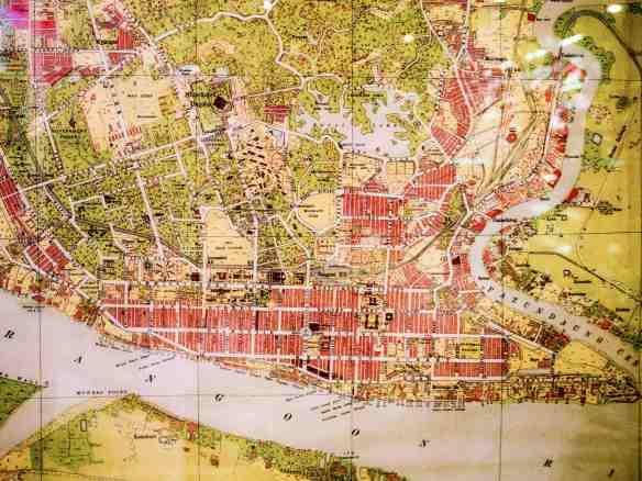 colonial Rangoon map