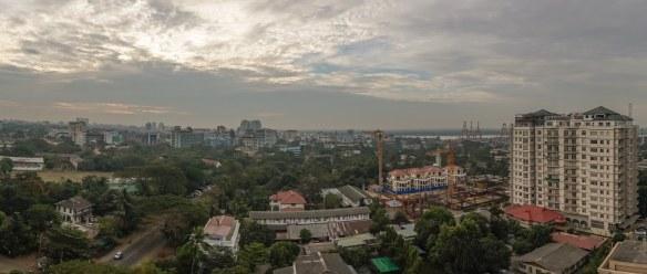 downtown Rangoon from my hotel window