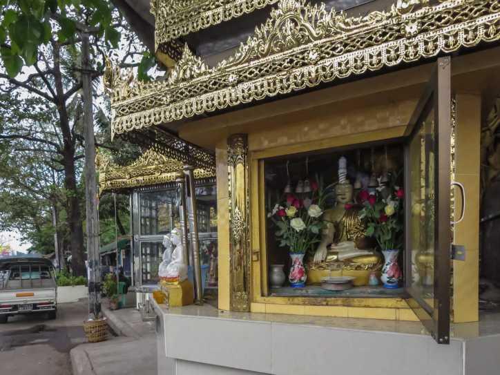 elaborate roadside shrine on Bandoola Road