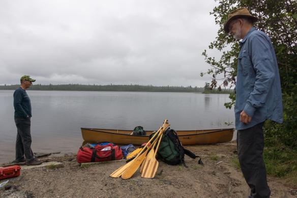 gear and canoe ready to arrange
