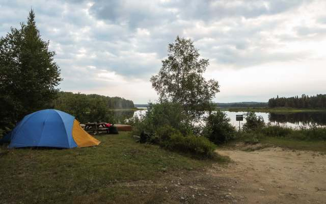 Lac Ward campsite - and boat launch area!