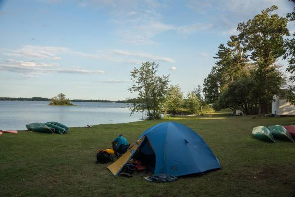 our camp site at Esprit Rafting base Camp in Davidson near Fort Coulonge