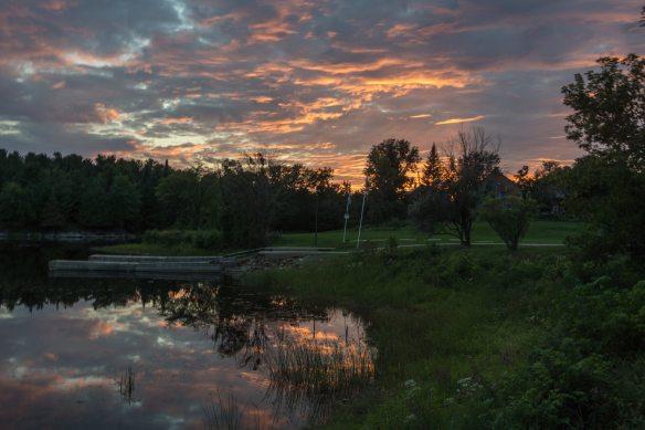 Portage du Fort sunset
