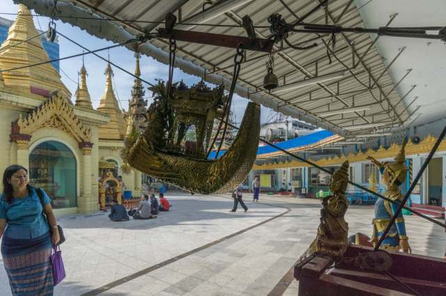 prayer card delivery system at the Sule Paya