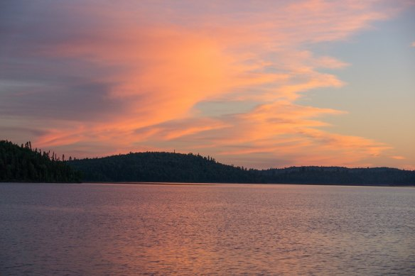 sky on fire - sunset on Lac Grand
