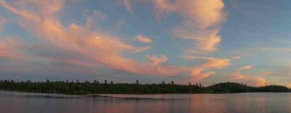 sunset panorama on Lac Grand