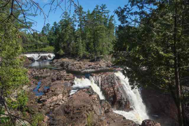 the first two drops at Les Chutes Coulonge