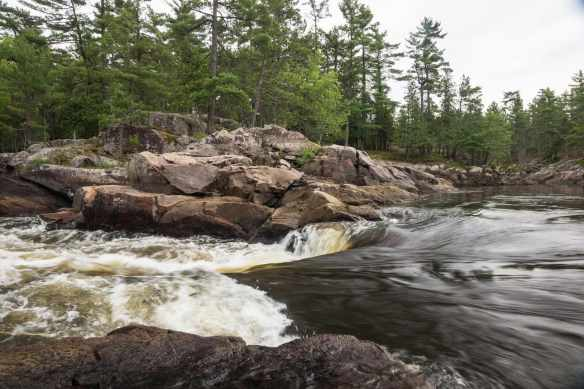the top of Chutes a Dejardins (known locally as Butterfly Rapids)