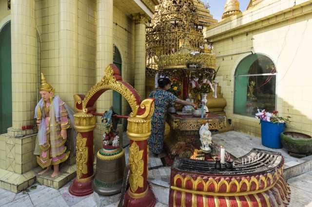 Yangon's Sule Paya - another of the eight planetary posts