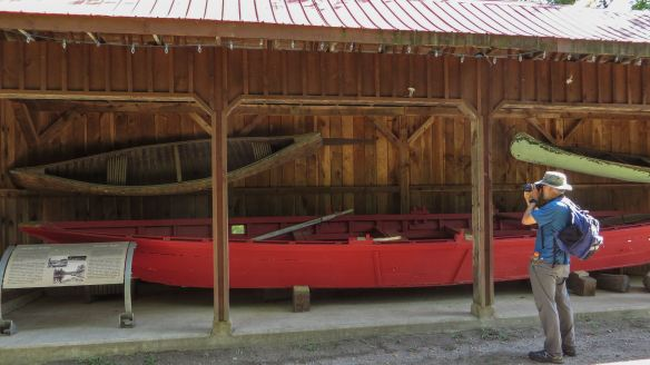 a collection of boats the logger used