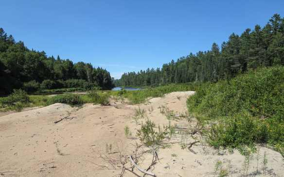 a supposed sandbar camp site at Km 102