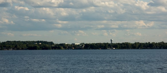 a view of Arnprior from the Quebec side of the river