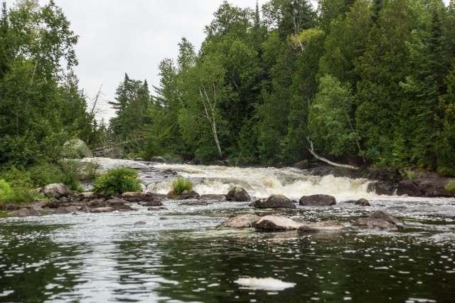 bottom of rapids after Lac Pomponne