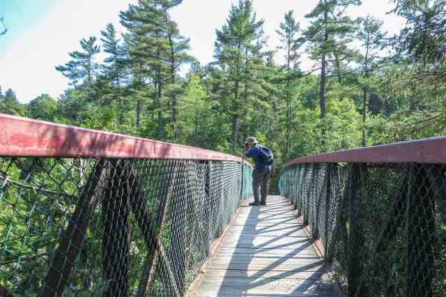 bridge crossing the Coulonge gorge provides great vantage point