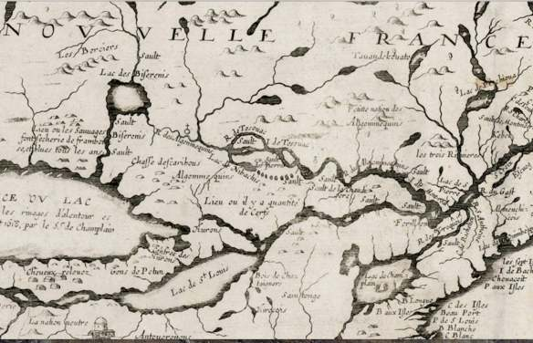 close-up-of-champlains-1643-map-algonquins-noted