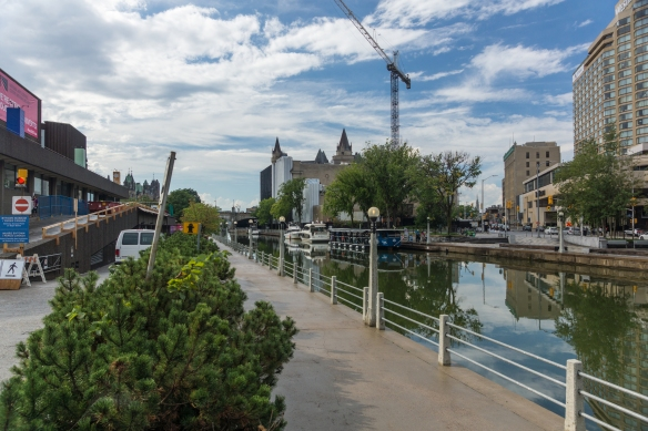 looking down the Ridea Canal from the National Arts Center