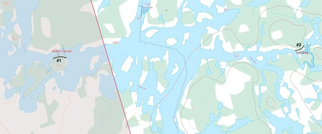 The Ottawa River - Rocher Fendu section - Middle Channel route