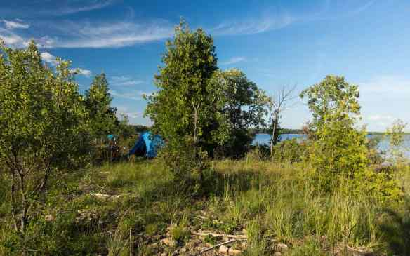 our Too Small Island campsite on the Quebec side of the Ottawa River