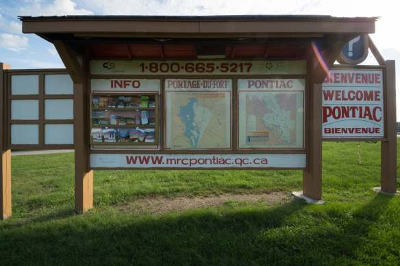 Portage du Fort Information Board near Mill Street across from paddlers' take out