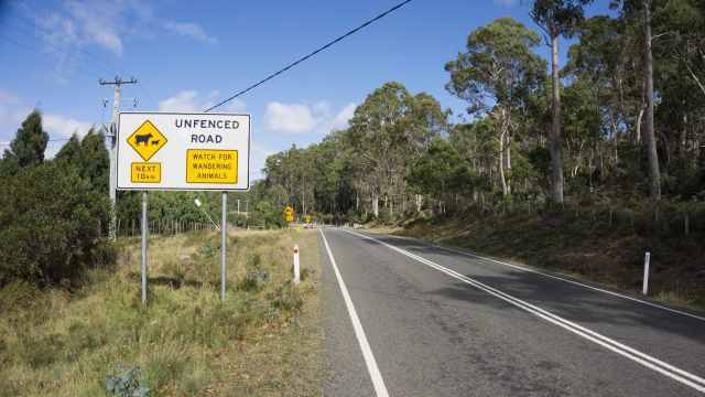 road sign on C136 on the way to Cradle Mountain