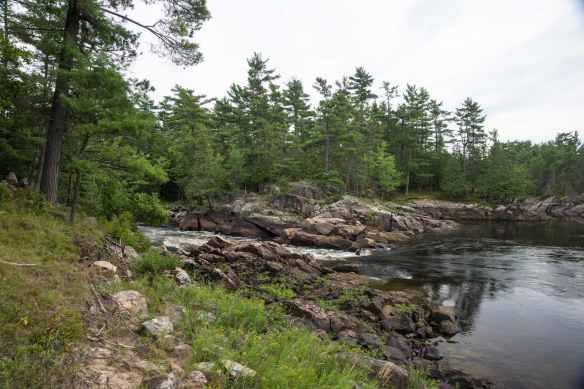 S Curve Rapids above Chute a Desjardins- Middle Channel