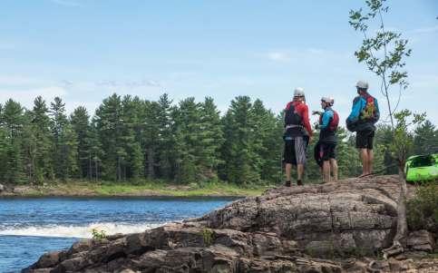 strategy session on Cedar Island/McKay Chutes