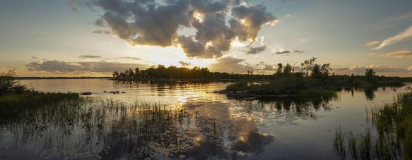 a panorama version of the above shot - sunset on the Ottawa River near Arnprior