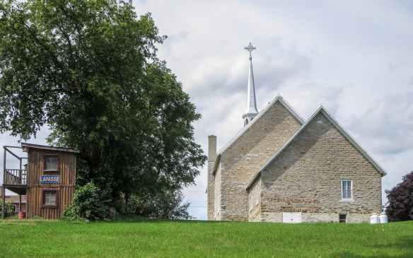 the back of La Passe's Notre Dame Du Mont Carmel church