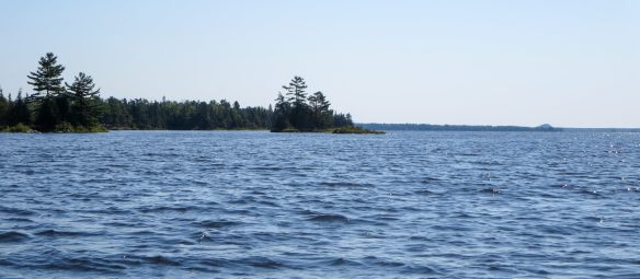 the bump on the Ottawa River horizon that we paddled towards for an hour or two!