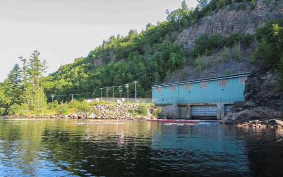 the Generating Station building below the Chutes Coulonge