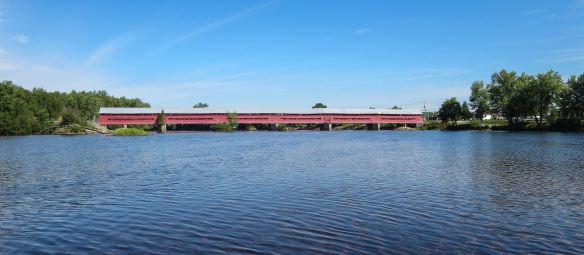 the Marchand Covered Bridge over the Coulonge near its mouth