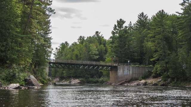 the Terry Fox Bridge over the Coulonge