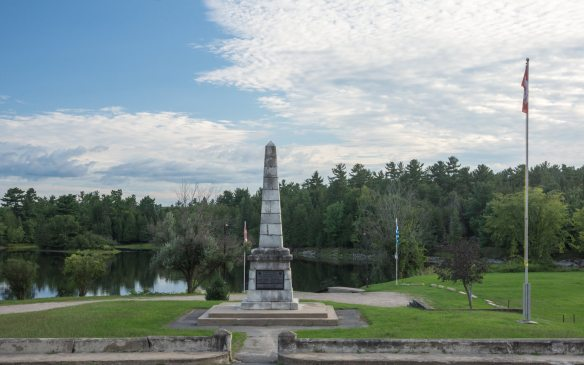 the war memorial at the corner of Main and Mill Streets - Portage du Fort