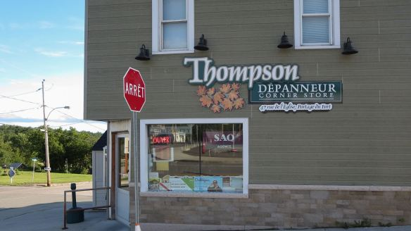 Thompson's Corner Store and Liquor Outlet at the corner of Main adn Church Streets - Portage du Fort