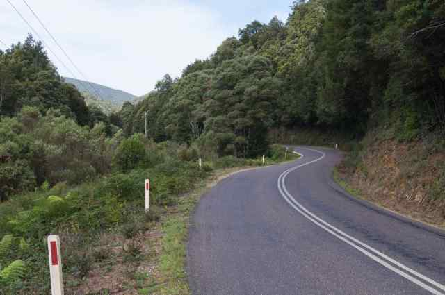 a nice bit of downhill road from Roseberry to Zeehan.jpg