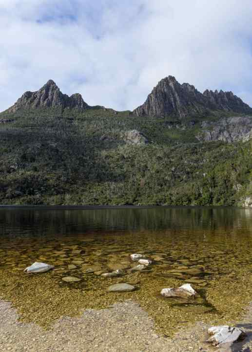 Cradle Mtn reflection in Dove Lake